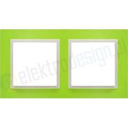 EFAPEL Animato zielony / lodowy. Ramka podwójna Logus 90