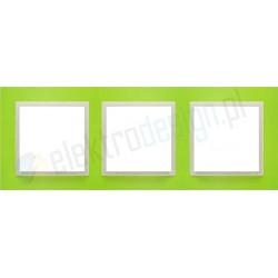 EFAPEL Animato zielony / lodowy. Ramka potrójna Logus 90
