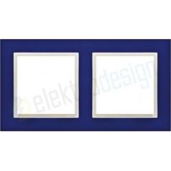 EFAPEL Animato niebieski / lodowy. Ramka podwójna Logus 90