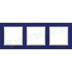 EFAPEL Animato niebieski / lodowy. Ramka potrójna Logus 90