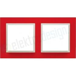 EFAPEL Animato czerwony / lodowy. Ramka podwójna Logus 90