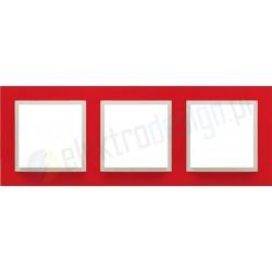 EFAPEL Animato czerwony / lodowy. Ramka potrójna Logus 90