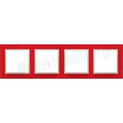 EFAPEL Animato czerwony / lodowy. Ramka poczwórna Logus 90