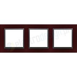 EFAPEL Animato intensywny czerwony / grafit. Ramka potrójna Logus 90