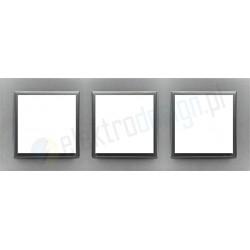 EFAPEL Animato aluminium / grafit. Ramka potrójna Logus 90