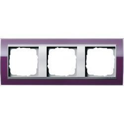 Ramka potrójna (do aluminiowych środków), Gira Event Clear kabaczkowy