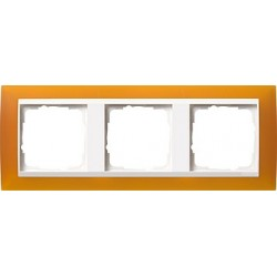 Ramka potrójna (do białych środków), Gira Event Opaque mat. bursztynowy