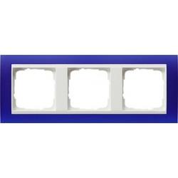 Ramka potrójna (do białych środków), Gira Event Opaque niebieski