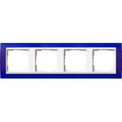 Ramka poczwórna (do białych środków), Gira Event Opaque niebieski